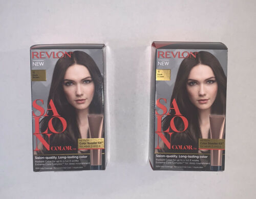 Revlon Salon Color #4 Dark Brown Color Booster Kit Lot Of 2 Boxes - $26.99