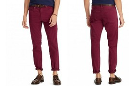 Polo Ralph Lauren Men's Prospect Straight Stretch Jeans, 34X34, Red, MSRP $98 - $54.44