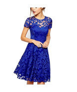 2018 Fashion Women Summer Elegant Sweet Hallow Out Lace Dress Sexy Party... - €24,22 EUR+