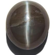 MADAGASCAR Chrysoberyl Cat's Eye 5.46 Cts Natural Untreated Grey Oval - $437.00