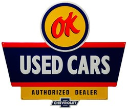 OK USED CARS EMBOSSED SIGN Limited Edition - $125.00