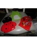 Set of 3 Bath Mitt Puppets - frog, lady bug, Disney pixar car - $11.00