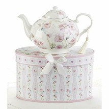 Delton 9.5X5.6 Porcelain Tea Pot, Poppyseed - $44.88