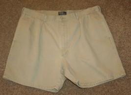 "Polo Ralph Lauren Chinos Shorts Waist 38"" Light Olive Green Khakis Pleated Mens - $8.80"