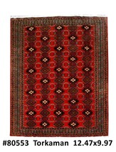 Turkoman Rug 10x13 Persian Natural Wool Hand Knotted - $1,734.59