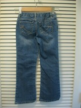 Childrens Place Girls Bootcut Stretch Jeans Sz 6 Adjustable Waist Hearts - $10.95