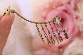NEW AUTH Christian Dior 2019 J'ADIOR EARRINGS GOLD STAR CRYSTAL DANGLE image 5