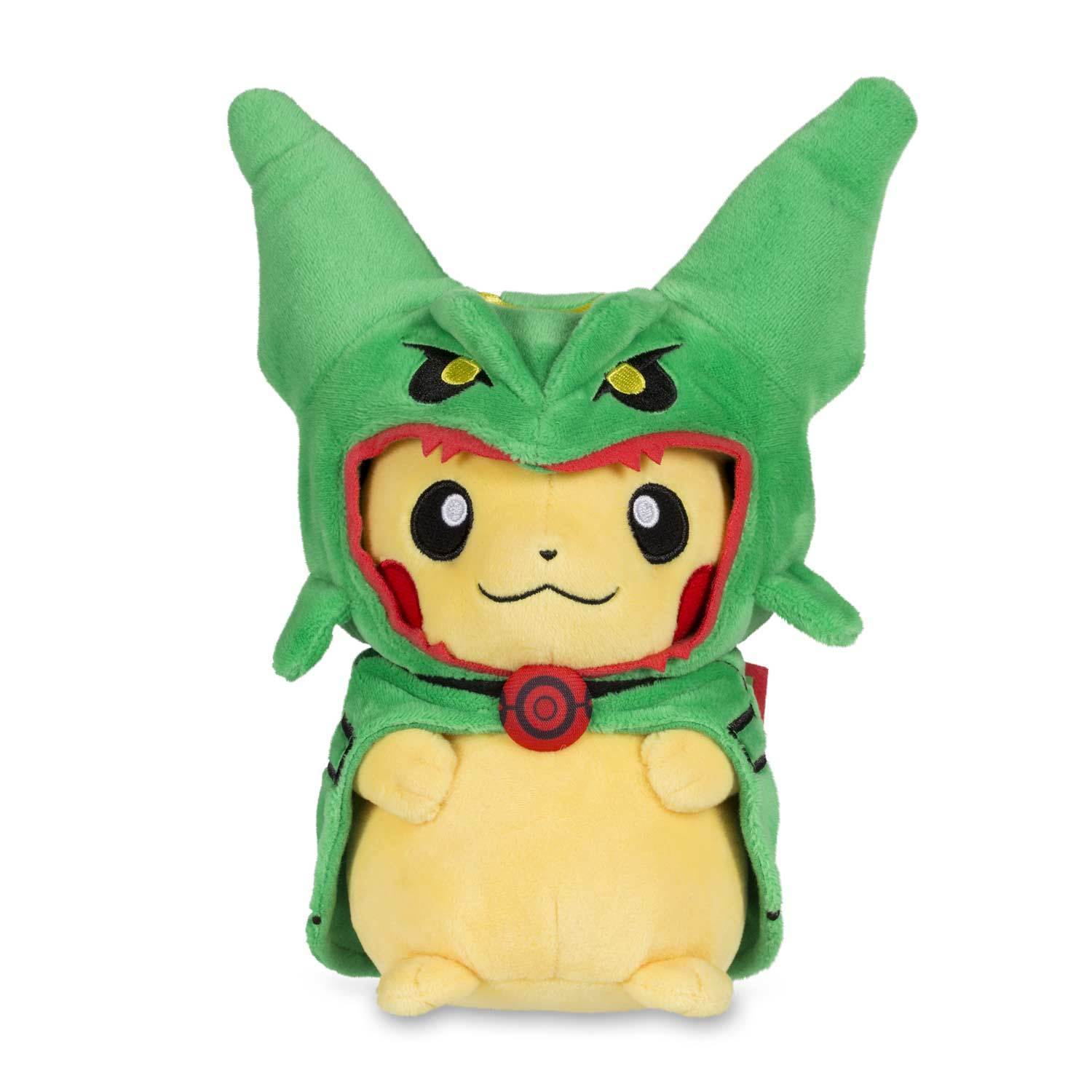PIKACHU in Rayquaza Costume 8 Inch Plush - New with Tags, Fast FREE Shipping!