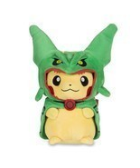 PIKACHU in Rayquaza Costume 8 Inch Plush - New with Tags, Fast FREE Ship... - £9.91 GBP