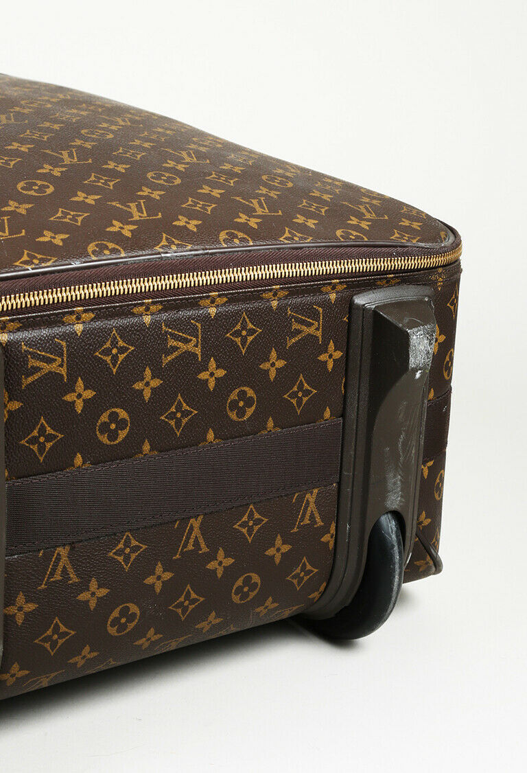 "Louis Vuitton ""Pegase 65"" Monogram Coated Canvas Suitcase"