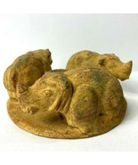 RARE VTG CIRCLE OF LIFE CANDLE HOLDER CLAY POTTERY  HAND MADE - $49.50