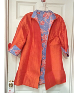 Patty Kim Reversible  Silk and Cotton Jacket (XL) - $99.99