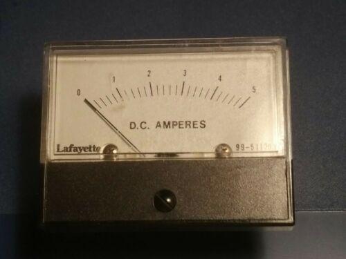 Vintage Lafayette Panel Meter 99-51120v 0-5 dc Amperes