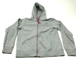 The North Face Sweater Hoodie Women Size Medium M Gray Full Zip Long Sle... - $17.83
