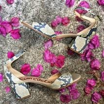 Sam Edelman Snakeskin Print Yaro Block Heel Sandal SIZE 11 $120 - $55.00