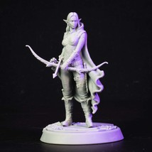 Forest - Girl - Elf - 3D - Printed HQ - Resin Miniature - Unpainted - Dungeons a - $14.99