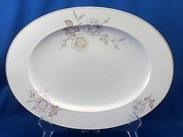 """Johann Haviland Sweetheart Rose Serving Platter 12.5"""" White w Pink Yello... - $21.78"""