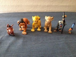 Classic Vintage Disney Lion King PVC Cake Topper Set Of 6 Scar Simba Pum... - $17.30