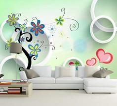 3D Farbige Blumen, Liebe 2 Fototapeten Wandbild Fototapete BildTapete Familie DE - $52.21+