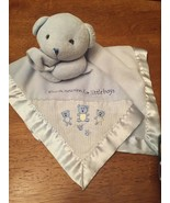 Carter's Just One Year Thank Heaven For Little Boys Blue Bear Baby Blank... - $24.75