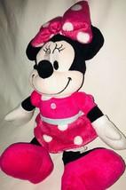 "Disney Minnie Mouse Plush Pink Polka Dot  Stuffed Animal Doll 15"" image 2"