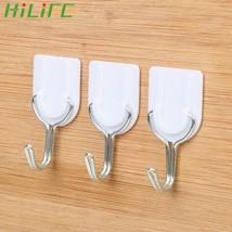 Bathroom/Kitchen Hooks for Hanging Stick On Wall Hanging Door Towel Hold... - €3,15 EUR