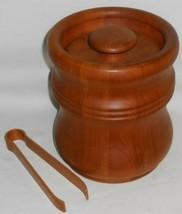 Mid Century MISSEN - DENMARK Teak Wood LINED ICE BUCKET Great Design! - $89.09