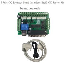 5 Axis CNC Breakout Board Interface Mach3 CNC Router Kit - $27.98