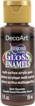 Americana Gloss Enamels Acrylic Paint 2oz-Dark Chocolate - $6.54