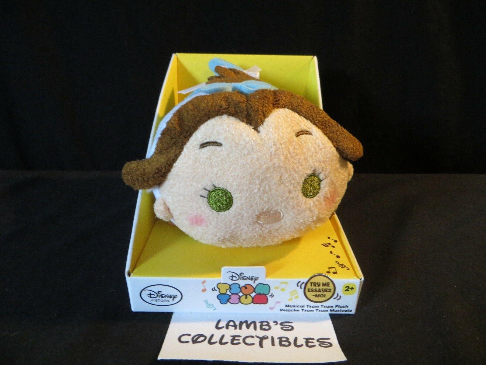 Primary image for Disney Store Authentic USA Belle musical 7 inch tsum tsum plush toy