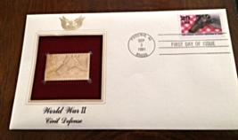 WORLD WAR II : Civil Defense First Day Gold Stamp Issue Sep 3, 1991 - $8.50