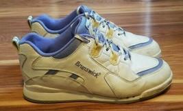 Womens VEGAN Brunswick White and Purple Bowling Shoes Size US 7.5 - $18.66