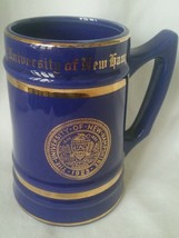 Vintage Navy Blue and Gold University of New Hampshire Beer Stein Colleg... - $29.99
