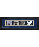 Personalized United States Naval Academy Campus Letter Art Framed Print - $39.95