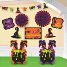 Witch 10 Pc Room Decorating Kit Halloween - $15.39