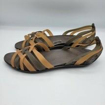Crocs Womens Huarache Brown Jelly Sandals Size 11 - $30.68