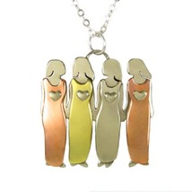 Four Sisters Four Friends Necklace Best Friends Pendant 4 Sisters BFF Ne... - $27.95
