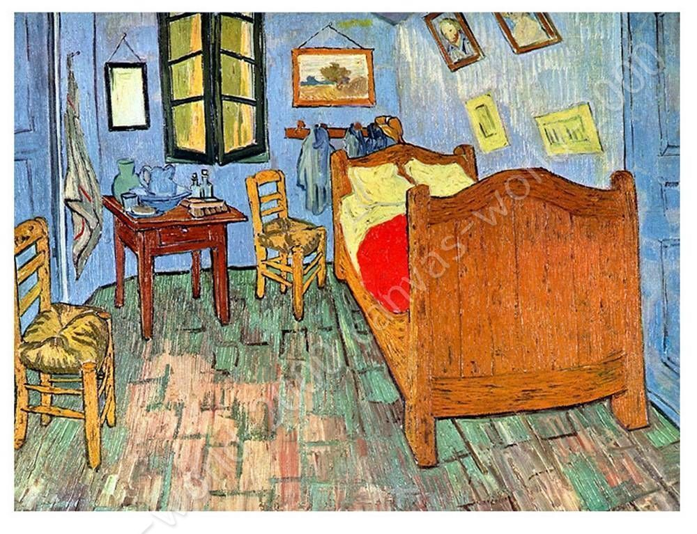 CANVAS (Rolled) Bedroom At Arles Vincent Van Gogh Oil Painting Print Paintings