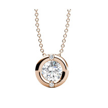 "18k Rose Gold Chain Necklace Swarovski Crystal 18"" - $50.00"