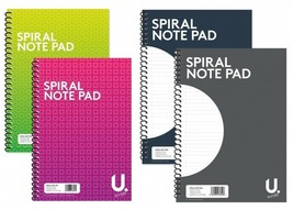 20x28cm Ruled Spiral Pad Notebook Lined Word Note Book Tough Writing School - $3.52