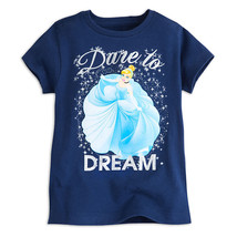 "Disney Store Cinderella ""Dare to Dream"" Short Sleeve Tee for Girls - $13.00"