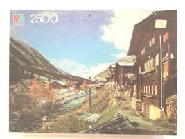 VTG Alpine Village 1983 Milton Bradley 2500 Pc Europe Landscape Scene Puzzle NEW - $38.60