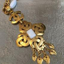 Auth Chanel Chapado en Oro cc Logos Vintage Charm Cadena Colgante Collar CN0036 - $1,289.24