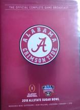 2018 Alabama Vs. Clemson in Sugar Bowl DVD - $4.95