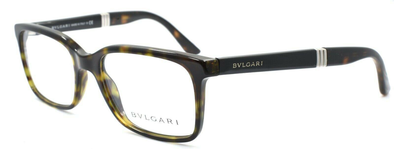 BVLGARI 3018 504 Eyeglasses Frames 52-18-140 Dark Havana ITALY - $118.60
