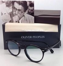 New Oliver Peoples Eyeglasses Gregory Peck Ov 5186 1005 47-23 Round Black Frames - $299.95