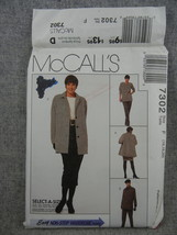 Unlined Jacket Tunic Pants or Skirt Misses Womens 16 18 20 McCalls 7302 ... - $8.00
