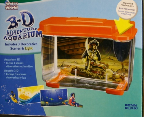 Penn Plax 3D Adventure Aquarium includes 3 Decorative Scenes & light