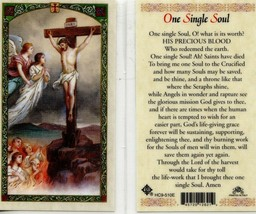 One Single Soul Laminated Prayer Holy Card - Item EB506 - O! What is its... - $2.79