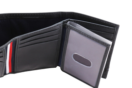 Tommy Hilfiger Men's Leather RFID Extra Capacity Trifold Wallet 31TL110044 image 10